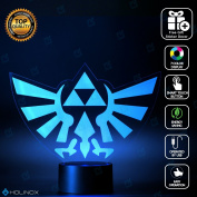 Legend of Zelda Triforce Lighting Decor Gadget Lamp + Sticker Decor for Perfect Set, Awesome Gift