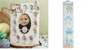 Owl Growth Chart and Baby's First Year Collage Frame