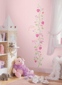 Lunarland PRINCESS Growth Chart Wall Stickers Vinyl Hearts Decals Room Decor Nursery Decal