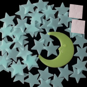 SW 50 Glow In The Dark Star and Moon Set Plastic Shape for Ceiling Wall Decor