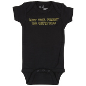 """MAY THE FARTS BE WITH YOU"" Black Short sleeve Bodysuit by EDG BABY"
