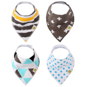 Taram Baby Bandana Drool Bib with two Adjustable Snaps ,Absorbent Organic Cotton