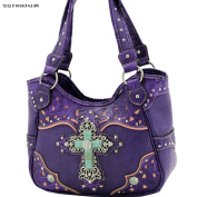PURPLE TURQUIOSE CROSS BODY Messenger PURSE