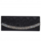 Digabi Women's Pleated Sparkling Evening Bag Wrinkle Drilling Banquet Evening Bag