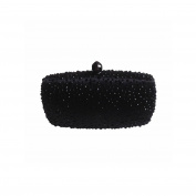 DMIX Womens Box Clutch with Bling Crystal Rhinestone Evening Bag