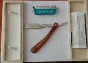 FEATHER Artist Club DX Folding Wood Razor with 20 blades 0.254mm