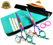 Thumb Swivel Professional Hairdressing Thinning Hair Cutting Scissors Shears Set 17cm Japanese Steel + Free Case