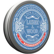 Lather & Wood Shaving Soap - Barbershop - Simply the Best Luxury Shaving Cream - Tallow - Dense Lather with Fantastic Scent for the Worlds Best Wet Shaving Routine. 140ml