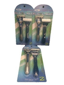 Men's Supreme Quality Six6Glade Disposable Razor- ReliaShave-6 Blades with Aloe Vera Lubra Strip, -Total 6 Razors