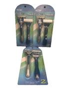 Men's Supreme Quality Six6Glade Disposable Razor- ReliaShave-6 Blades with Aloe Vera Lubra Strip, -Total 6 Razors