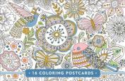 Blooms, Birds, & Butterflies Coloring Postcards