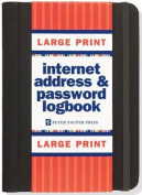 Large Print Internet Address & Password Logbook