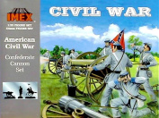 IMEX Set #781 Civil War 5.4kg Confederate Cannon and Plastic Toy Soldier Set in 1/32 scale
