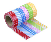 LolliZ® Washi Tape - Picnic Party Set with Six Rolls of Fun and Festive Colours