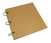 Blank Kraft Expandable Hardcover Scrapbook DIY Photo Album, Wedding Guest Book, Photo Booth