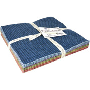 Woollies Flannel Colours Assortment 110cm - 25cm x 25cm Squares by Bonnie Sullivan from Maywood Studios SQ/MASWOF-COL