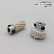 HONEYSEW Feed Dog Drive Shaft Set GEAR For Singer 510 513 514 518 522 527 530 1036 1425N 1482 1485 1486 1488 1490 1492 GEAR #174488 383273