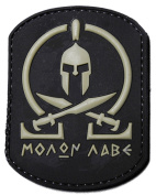 Molon Labe Black PVC Spartan Morale Patch