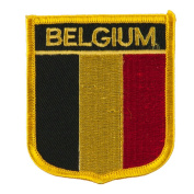Europe Flag Embroidered Patch Shield