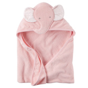 Baby Girl Elephant Hooded Towel