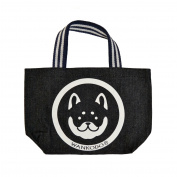Wankodo Shiba Inu Design Denim Fabric Tote Bag Lunch Bag