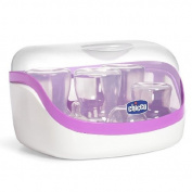 Chicco Microwave Universal BPA and PVC Free Steam Steriliser in Purple/White