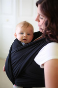 AmBaby Wrap Baby Sling - Baby Carrier Sling for Newborns, Infants and Toddlers up to the age of 3 years - Soft and Stretchy Wrap - Breastfeeding Sling - Pink, Grey and Black Colours Available
