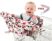Shopping Cart and High Chair Cover for Baby with FREE Pacifier Clip