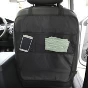 Bable Premium Kick Mats Car Seat Protector Organiser Fit Most Car Suv & Auto - Black
