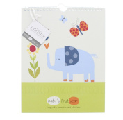 Pepper Pot Jungle Friend Boy Keepsake Calendar with Coordinating Stickers