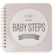 "NEW! Baby First Year Memory Mini Book for Two Moms LGBT Family. Poly Cover. Intimate, travel size memory keeper record book and journal. 13cm x 13cm - Best Shower Gift! (Smokey Grey ""Modernista"""