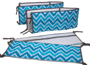 Bacati Mix and Match Bumper Pad, Aqua/Grey