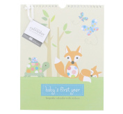 Pepper Pot Forest Family Boy Keepsake Calendar with Coordinating Stickers