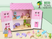 ECOTOYS Strawberry Dolls House