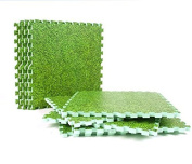 Kids Play Mat 60x60cm Green Grass Look Foam Mat Interlocking Eva Mat Floor Tiles