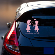 Car Sticker Rear Window Sticker Car Sticker Baby Snow Queen Frozen Children M1872, dark blue, M - 18cm breit x 25cm hoch