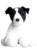 Make Your Own Stuffed Animal Black & White Terrier Dog No Sew Making Kit 16""