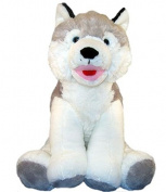 Make Your Own Stuffed Animal Husky Dog - No Sew - Kit 16 inch