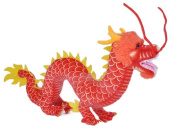 Drasawee Lifelike Dragon Toy Soft Plush Toy Unique Decoration Gift Red