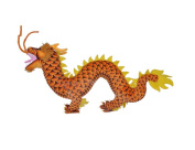 Drasawee Lifelike Dragon Toy Soft Plush Toy Unique Decoration Gift Orange