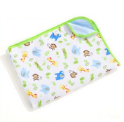 ANQIWA Baby Nappy Pad Bamboo Fibre Mat Flannel Pad Waterproof Both Sides Can Be Used Green