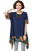 MelBedy Women Large Size Asymmetric Boho T Shirt and Blouse Loose Fit Tops