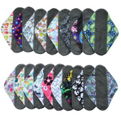 3 Pieces 30cm Heavy Flow Charcoal Bamboo Mama Cloth/ Menstrual Pads/ Reusable Sanitary Pads - You Choose 3 Designs From 17 and Send Message to Me