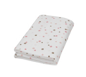 PMP White Coral Polka Dot Print Fitted Sheet 60 x 120 cm