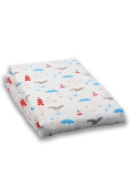 Milkii Swaddle 120 x 120 cm 100% Cotton Muslin Backdrop, on the sea