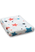 Milkii Swaddle 120 x 120 cm 100% Bamboo Muslin Backdrop, Star Girl