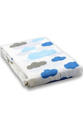 Milkii Swaddle 100% Quality Cotton Muslin/Bamboo 120 x 120 cm Clouds