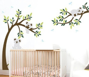 LUCKKYY KOALA Branch and Tree wallstickers for Nursery Bedroom Wall Decor