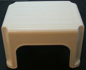 40cm High Plastic Step Stool - Cream