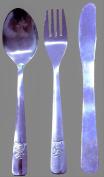 Children's / Kids Stainless Steel Cutlery Set ~ 3 Piece Set